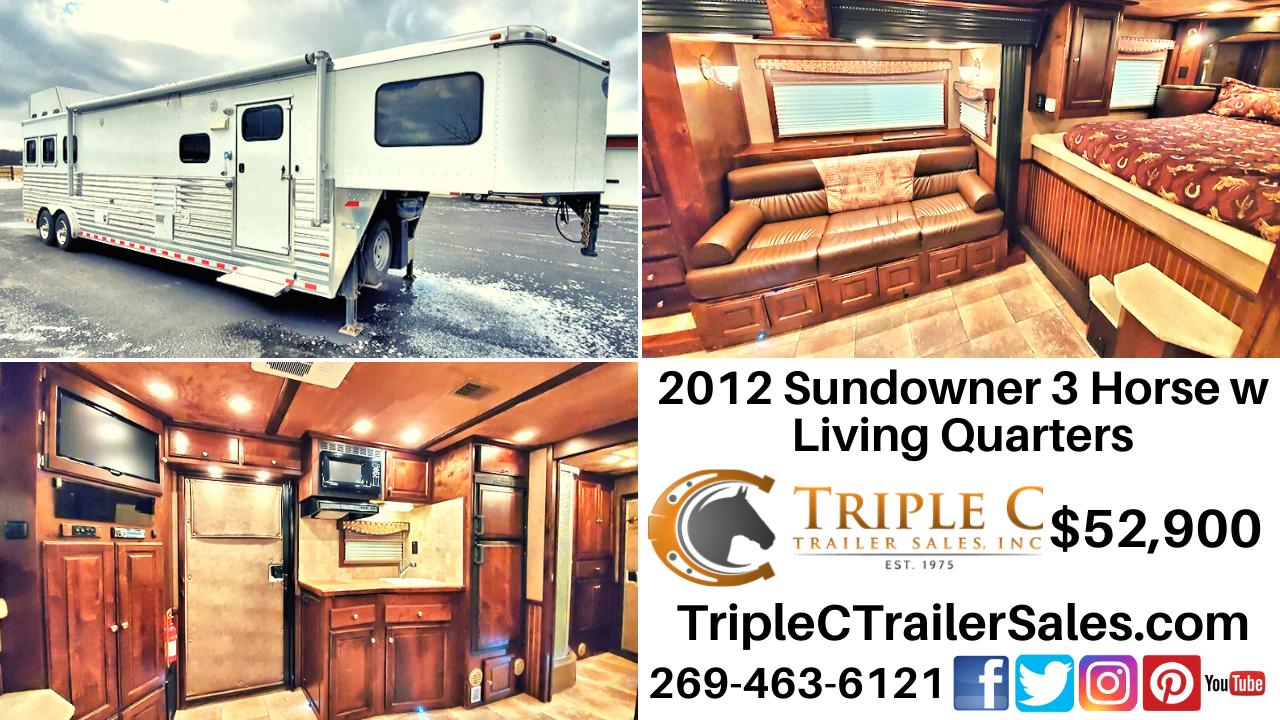 2012 Sundowner 3 Horse w Living Quarters