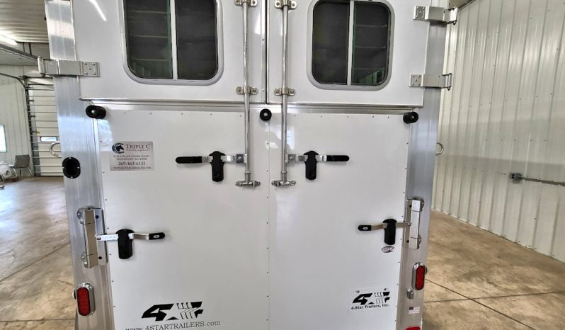 2021 4-Star 2 Horse Straight Load Bumper Pull w Larger Dress Area full